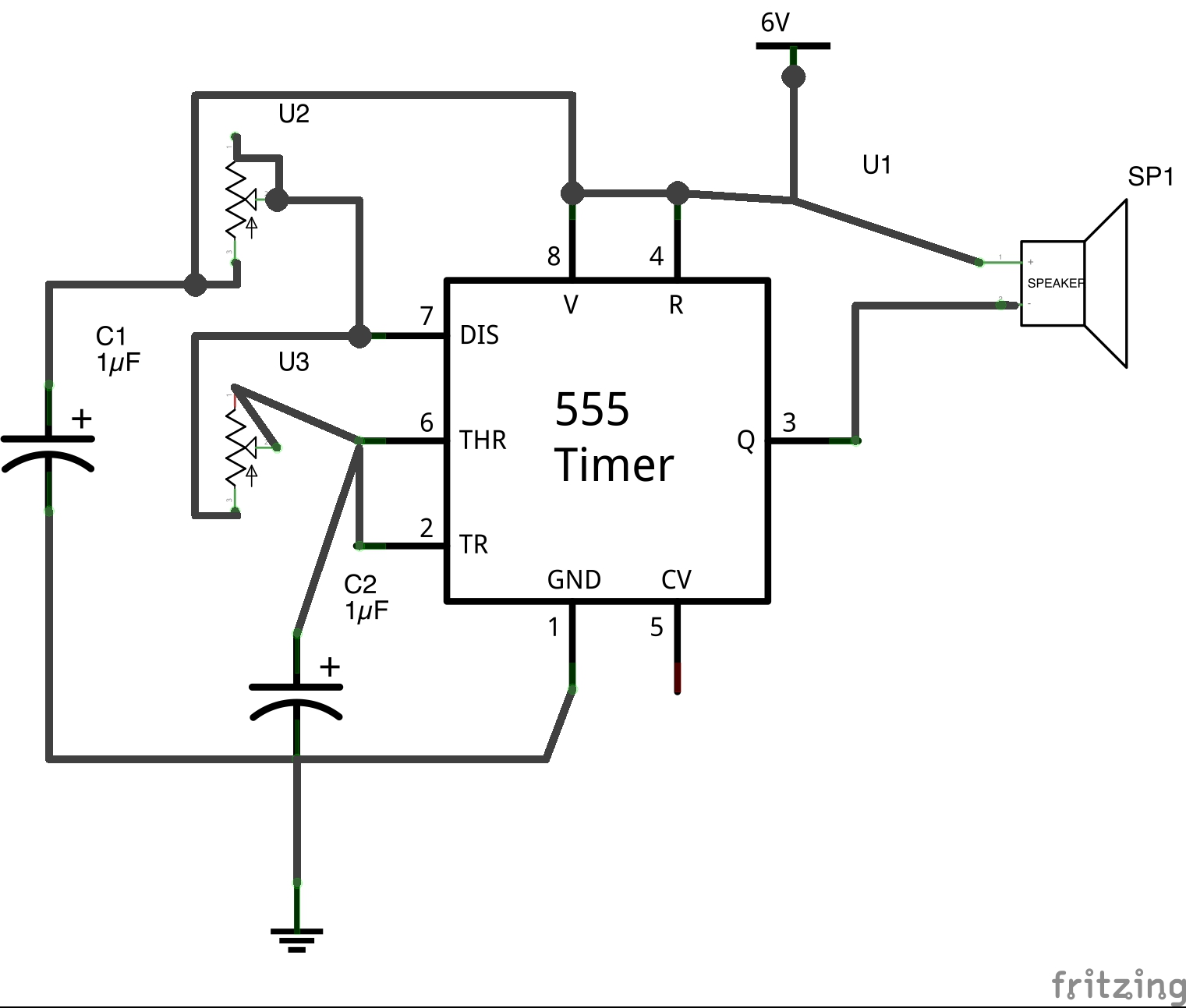 Maker Ed Analog Circuit Workshop 555 Timer With Variable On Off Times Schematic Some Close Ups Of The